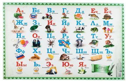 """Коврик-подкладка настольный для письма, с русским алфавитом, 380х590 мм, """"ДПС"""", 2129.А"""