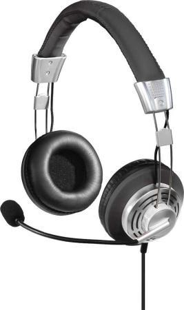 цена на Наушники с микрофоном Hama Style черный/серый 2м мониторы оголовье (00139914)