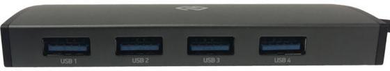 Разветвитель USB Type-C Digma HUB-4U3.0-UC-G 4 х USB 3.0 серый пассажиры левин ecola расширение usb кабель разветвитель 4 usb2 0 hub концентратор usb hub09 перец