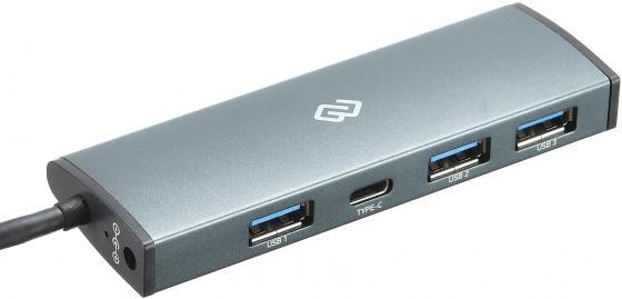 Разветвитель USB Type-C Digma HUB-3U3.0С-UC-G 3 х 3.0 серый