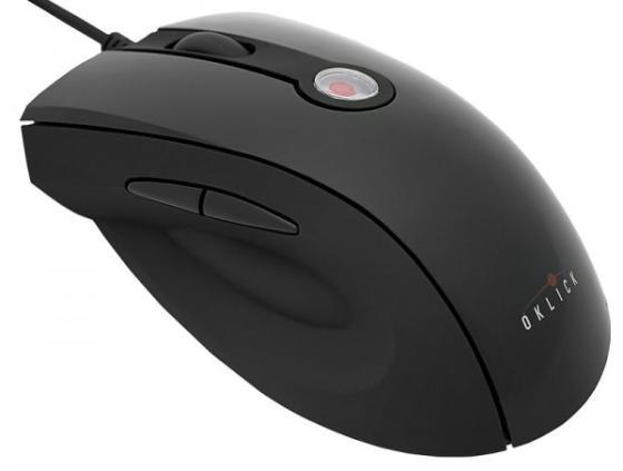 Мышь проводная Oklick 325M чёрный USB