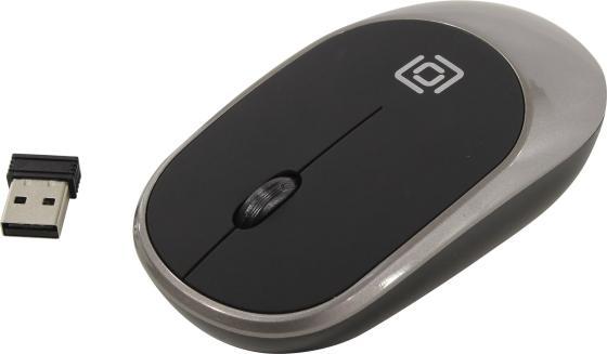 Мышь беспроводная Oklick 535MW чёрный серый USB