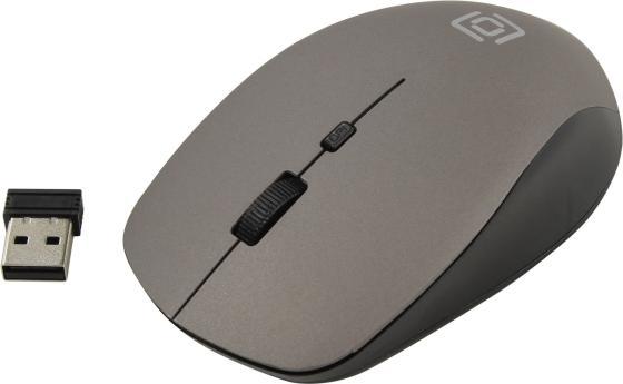 Мышь беспроводная Oklick 565MW matt чёрный серый USB мышь беспроводная hp 200 silk золотистый чёрный usb 2hu83aa