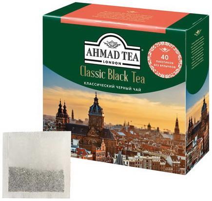 Чай AHMAD (Ахмад) Classic Black Tea, черный, 40 пакетиков без ярлычков по 2 г, 1583 ae81 free shipping 250g premium real chinese tea famous black tea brand jingjinmei kongfu black tea