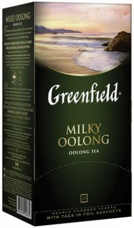 Чай GREENFIELD (Гринфилд) Milky Oolong (Молочный улун), улун с добавками, 25 пакетиков по 2 г, 1067-15 цена