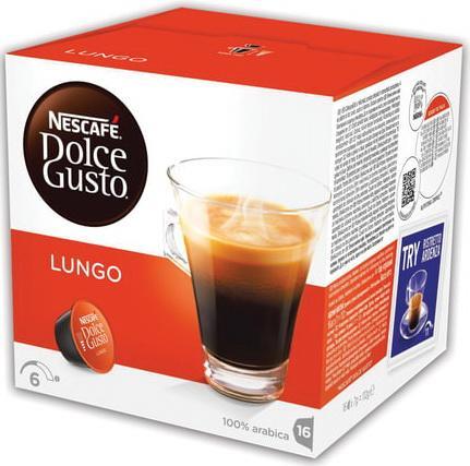 Капсулы для кофемашин NESCAFE Dolce Gusto Lungo, натуральный кофе 16 шт. х 7 г, 5219842 цена