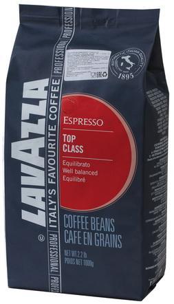 Кофе в зернах LAVAZZA (Лавацца) Top Class, натуральный, 1000 г, вакуумная упаковка, 2010 lavazza caffe espresso 1000 beans эспрессо зерно вакуумная упаковка