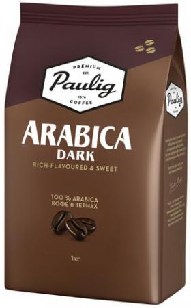 Кофе в зернах PAULIG (Паулиг) Arabica DARK, натуральный, 1000 г, вакуумная упаковка, 16608 кофе paulig паулиг эспрессо оригинальный в зернах 250г пакет