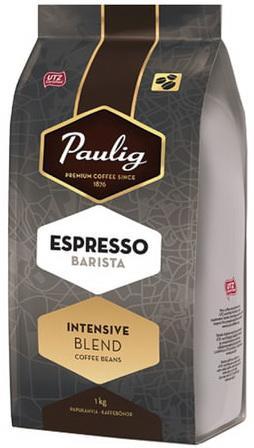 Кофе в зернах PAULIG (Паулиг) Espresso BARISTA, натуральный, 1000 г, вакуумная упаковка, 16623 кофе paulig паулиг эспрессо оригинальный в зернах 250г пакет