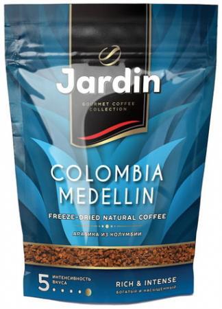 Кофе растворимый JARDIN Colombia medellin, сублимированный, 150 г, мягкая упаковка кофе растворимый put coffee in de colombia сублимированный 75 г