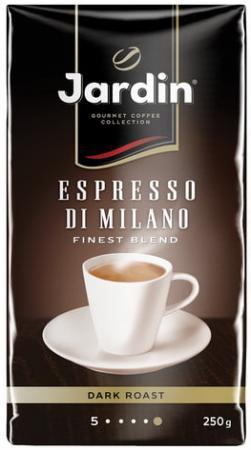 Кофе молотый JARDIN (Жардин) Espresso di Milano, натуральный, 250 г, вакуумная упаковка, 0563-26 кофе жардин молотый жареный дессерт кап 250г