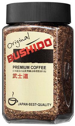 """Кофе растворимый BUSHIDO """"Original"""", сублимированный, 100 г, 100% арабика, стеклянная банка, 1004"""
