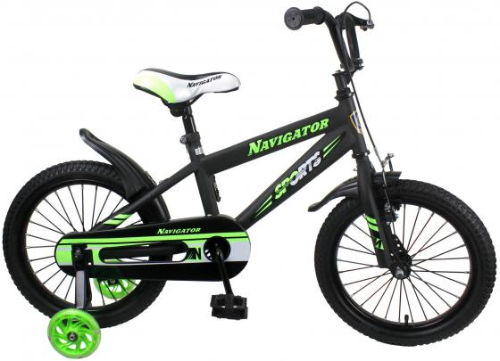 """Велосипед двухколёсный Navigator Sport I 16"""" черно-зеленый ВН16149 цена и фото"""