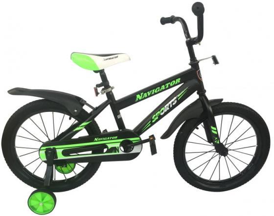 """Велосипед двухколёсный Navigator Sports 18"""" черно-зеленый ВН18113 цена и фото"""