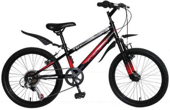 """Велосипед двухколёсный Top Gear Fighter 20"""" черный ВН20207 велосипед top gear kinetic 210 24 красно бордовый вн24096"""