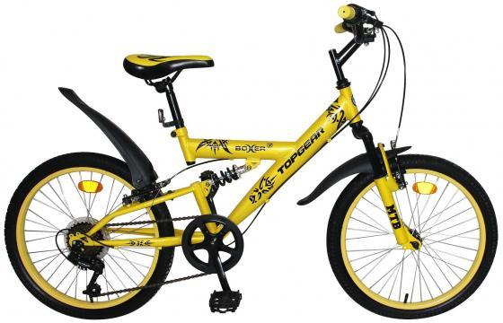 """Велосипед двухколёсный Top Gear Boxer 20"""" желтый ВН20204 велосипед top gear kinetic 210 24 красно бордовый вн24096"""