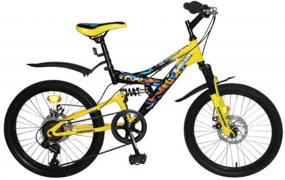 """Велосипед двухколёсный Top Gear Hooligan 20"""" желтый ВН20209 велосипед top gear kinetic 210 24 красно бордовый вн24096"""