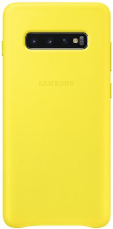 Чехол (клип-кейс) Samsung для Samsung Galaxy S10+ Leather Cover желтый (EF-VG975LYEGRU) чехол клип кейс samsung для samsung galaxy s10 leather cover красный ef vg975lregru