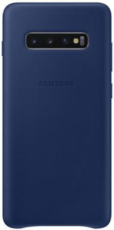 Чехол (клип-кейс) Samsung для Samsung Galaxy S10+ Leather Cover темно-синий (EF-VG975LNEGRU) чехол клип кейс samsung для samsung galaxy s10 leather cover красный ef vg975lregru