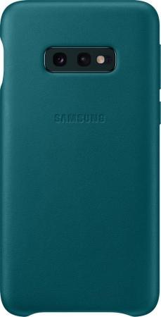Чехол (клип-кейс) Samsung для Samsung Galaxy S10e Leather Cover зеленый (EF-VG970LGEGRU)