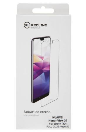 Защитное стекло для экрана Redline черный для Huawei Honor View 20 3D 1шт. (УТ000017122) защитное стекло mobius huawei honor view 10 синий