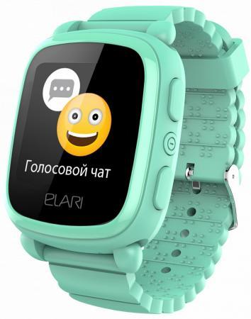 """Смарт-часы Elari KidPhone 2 15мм 1.4"""" TFT зеленый цена в Москве и Питере"""
