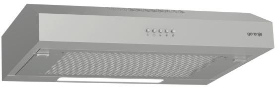 лучшая цена Вытяжка встраиваемая Gorenje WHU629EX/S нержавеющая сталь управление: кнопочное (1 мотор)