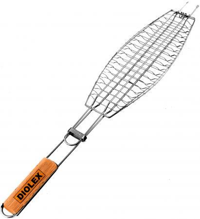 0001F-DX Решетка-гриль Diolex для рыбы (с хромированным покрытием) 36*12,5 цена
