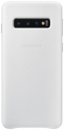 Чехол (клип-кейс) Samsung для Samsung Galaxy S10 Leather Cover белый (EF-VG973LWEGRU) чехол клип кейс samsung для samsung galaxy s10 leather cover темно синий ef vg975lnegru