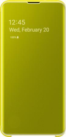 цена на Чехол (флип-кейс) Samsung для Samsung Galaxy S10e Clear View Cover желтый (EF-ZG970CYEGRU)