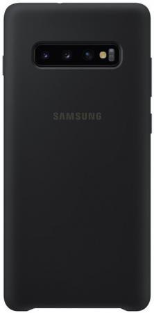 Чехол (клип-кейс) Samsung для Samsung Galaxy S10+ Silicone Cover черный (EF-PG975TBEGRU)