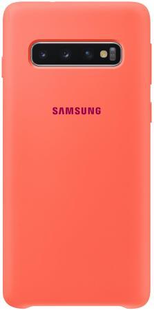 Чехол (клип-кейс) Samsung для Samsung Galaxy S10 Silicone Cover розовый (EF-PG973THEGRU)