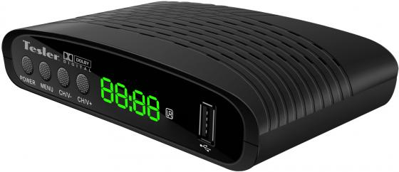 Цифровой телевизионный DVB-T2 ресивер TESLER DSR-770 [DVB-T2/T, HDMI, PVR, TimeShift, AAC, MP3, HE-AAC, WMA, телетекст и субтитры,USB] недорго, оригинальная цена