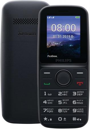 Мобильный телефон Philips E109 черный philips philips dctg280 цифровой беспроводной телефон китайский меню handsfree домашний офис телефон оранжевый
