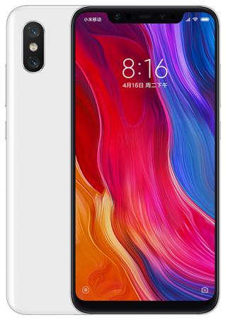 Смартфон Xiaomi Mi 8 белый 6.21 64 Гб LTE Wi-Fi GPS 3G Bluetooth NFC X20651 смартфон nokia 8 стальной 5 3 64 гб lte nfc wi fi gps 3g 11nb1s01a09