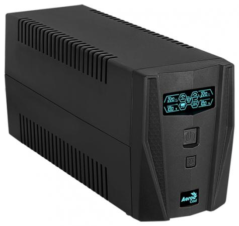 ИБП Aerocool Aero Shield C625 , 625 ВА / 360 Вт, линейно-интерактивный, 2 розетки Schuko, аккумулятор 1 х 12 В / 7 А·ч, LED дисплей