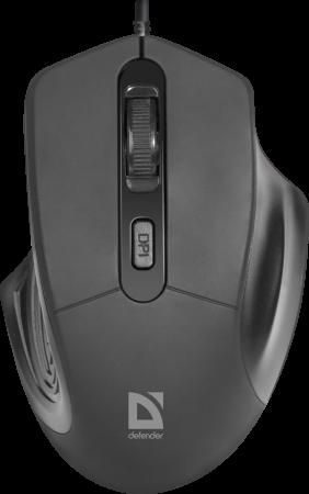 Мышь оптическая Datum MB-347 черный,4 кнопки, USB, 800-1600 dpi DEFENDER