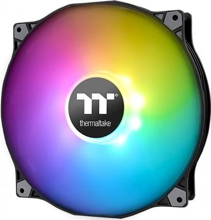 Вентилятор Thermaltake Fan Premium Pure 20 ARGB Sync [CL-F081-PL20SW-A] / Addressable / MB SYNC / PWM вентилятор thermaltake riing 14 140x140x25 3pin 22 1 28 1db yellow lnc cl f039 pl14yl a