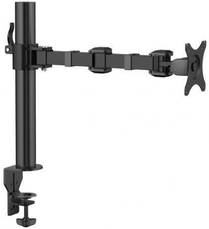 Фото - Кронштейн для монитора ONKRON/ 10-32 макс. 100*100, струбцина, наклон -85?+90? поворот 360?, вылет от основание 0-435мм, макс.перемещение по вертикали 200-340мм, нагрузка 10кг кронштейн настенный для монитора onkron 13 32 1 колено макс 100 100 струбцина наклон 35 35 поворот 180 расстояние от стены 85 361мм макс перемещение