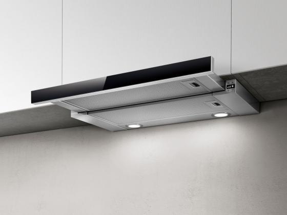 Вытяжка встраиваемая Elica ELITE 26 IX/A/60/VT нержавеющая сталь/черное стекло все цены