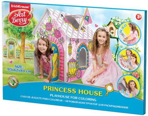 Домик игровой для раскрашивания ERICH KRAUSE Artberry Домик принцессы, картонный, 93х84х62 см, 39232 erich krause игровой домик для раскрашивания рыцарский замок artberry