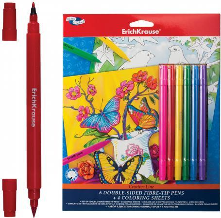 Набор для творчества Erich Krause Creative line (цветы, птицы) ластик erich krause art line extra soft