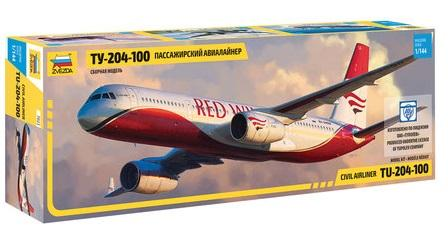 Авиалайнер ЗВЕЗДА Ту-204-100 1:144