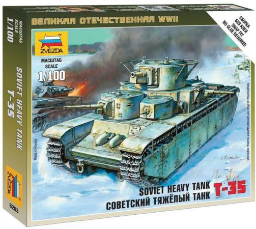 Танк ЗВЕЗДА Тяжелый советский Т-35 1:100 хаки