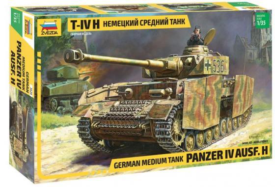 Танк ЗВЕЗДА ТАНК Средний немецкий Т-IV H 1:35 хаки танк звезда т 72б с активной броней 1 35 3551п подарочный набор