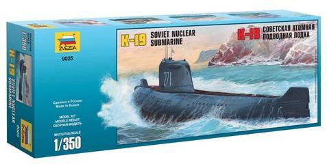 Подводная лодка ЗВЕЗДА Подводная лодка атомная советская К-19 1:350