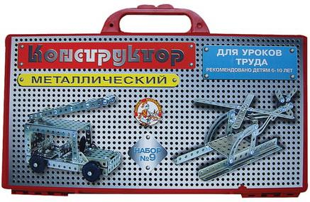 Металлический конструктор Десятое королевство для уроков труда №9 158 элементов игрушка конструктор металлический школьный 3 для уроков труда