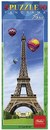"""Пазл-панорама, 90 элементов, А4, """"Эйфелева башня"""", 290х110 мм, 90ПЗ4 12840, U166338 все цены"""