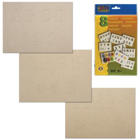 Трафарет для рисования воздушными фломастерами CENTROPEN D+, буквы и цифры, 8 штук, 9996/D трафарет для рисования centropen d буквы и цифры 8 листов