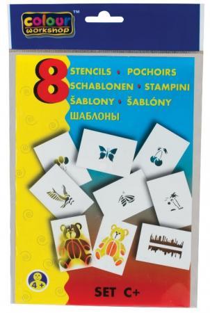 Трафарет для рисования воздушными фломастерами CENTROPEN, С+, природа, 8 штук, 9996/C трафарет для рисования centropen d буквы и цифры 8 листов
